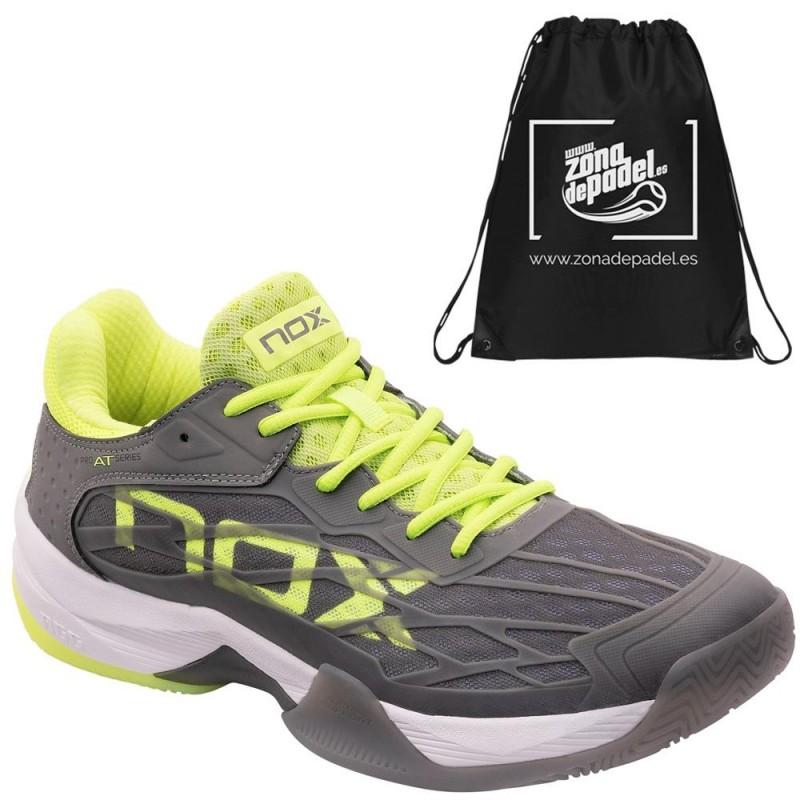Zapatillas Nox AT10 LUX Gris Amarillo Fluor