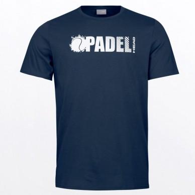 Head Camiseta Head Padel Font Dark Blue
