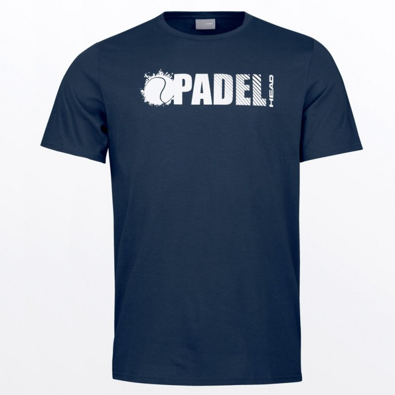 Camiseta Head Padel Font Dark Blue