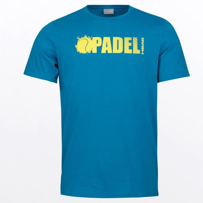 Camiseta Head Padel Font Blue