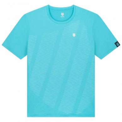 K-Swiss Camiseta Kswiss Hypercourt Shield Crew Scuba Blue