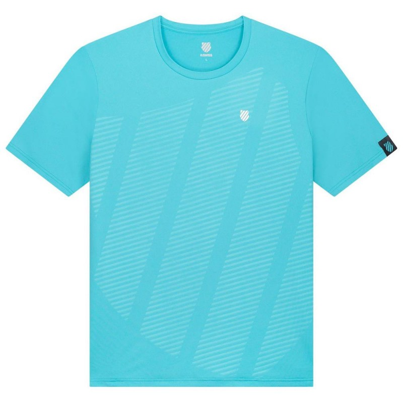 Camiseta Kswiss Hypercourt Shield Crew Scuba Blue