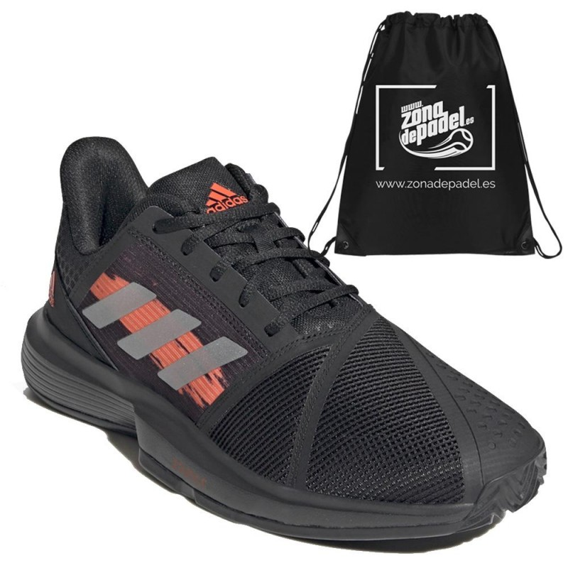 Zapatillas Adidas CourtJam Bounce M Black Orange 2021
