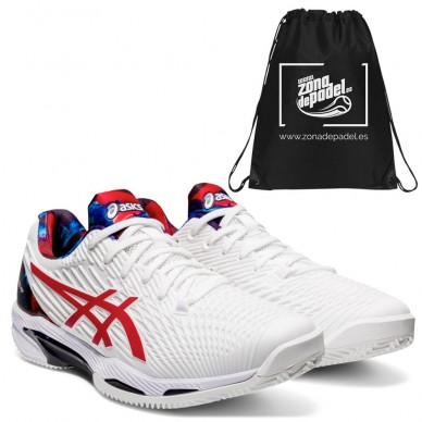 AsicsAsics Gel Solution Speed FF L.E. White Classic Red