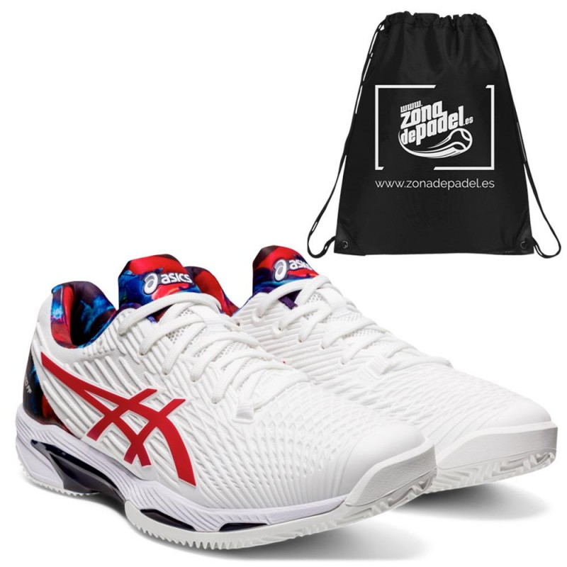 Asics Gel Solution Speed FF L.E. White Classic Red
