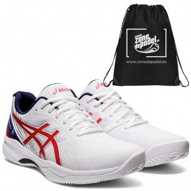 AsicsAsics Gel Game 8 Clay LE White Classic Red