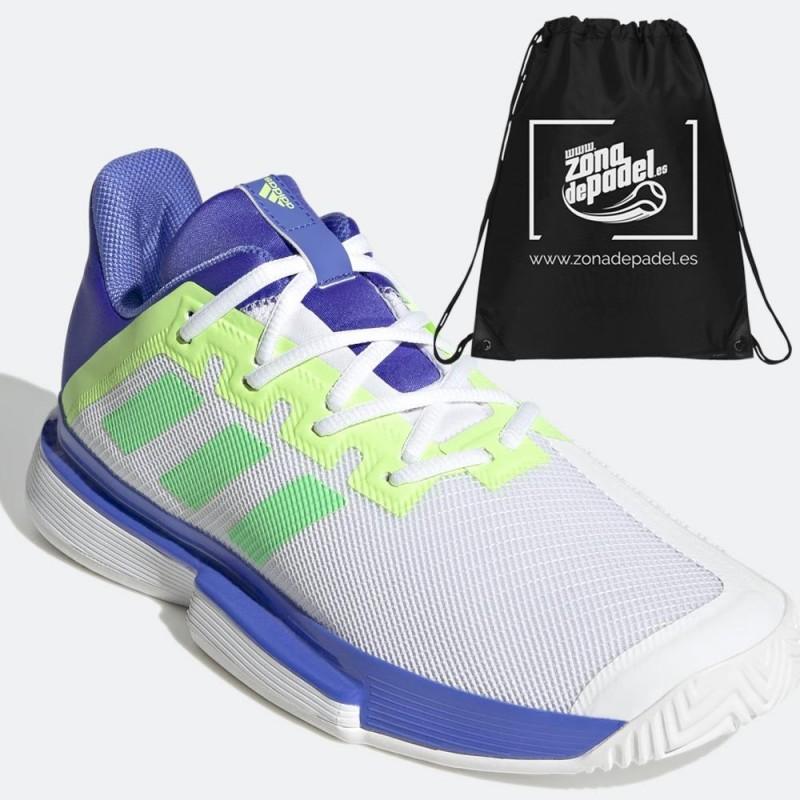 Zapatillas Adidas SoleMatch Bounce M Sonik White Blue 2021