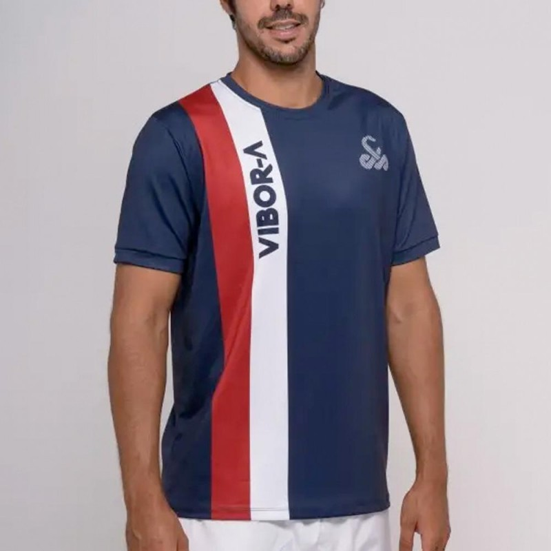 Camiseta Vibora Lethal Pro Marino Blanco Rojo