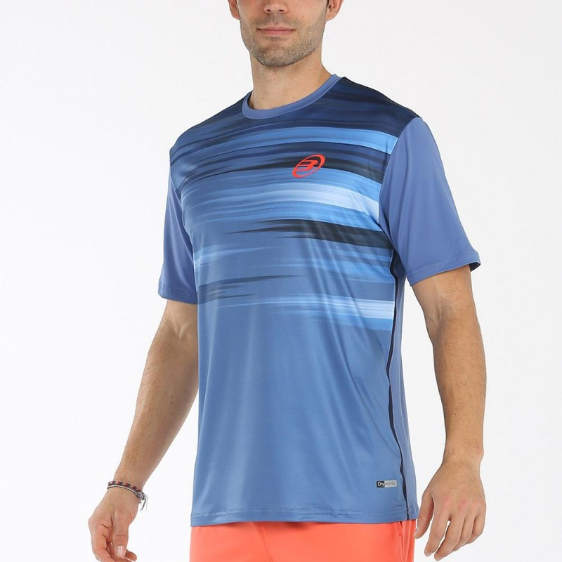 Camiseta Bullpadel Milan Azul Acero