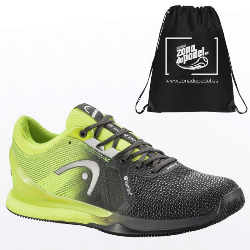 Zapatillas Head Sprint Pro 3.0 SF Clay Men Black Yellow 2021