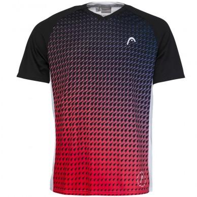 Head Camiseta Head Game Tech Red Print Padel
