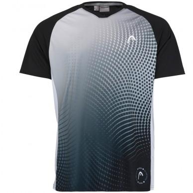 Head Camiseta Head Game Tech Black Print Padel