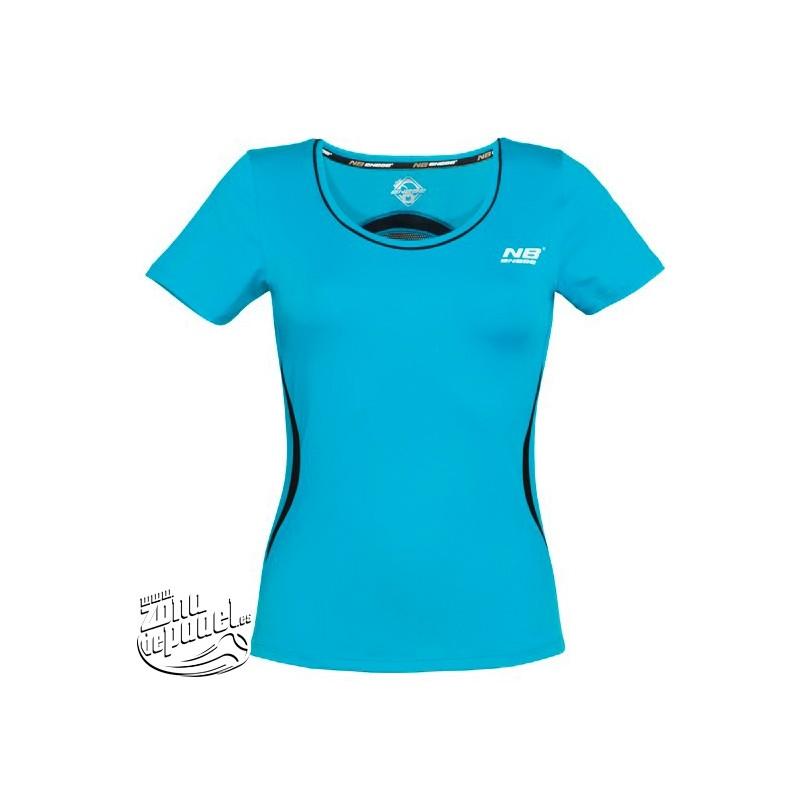 Camiseta de padel para mujer de Enebe Azul Sinas