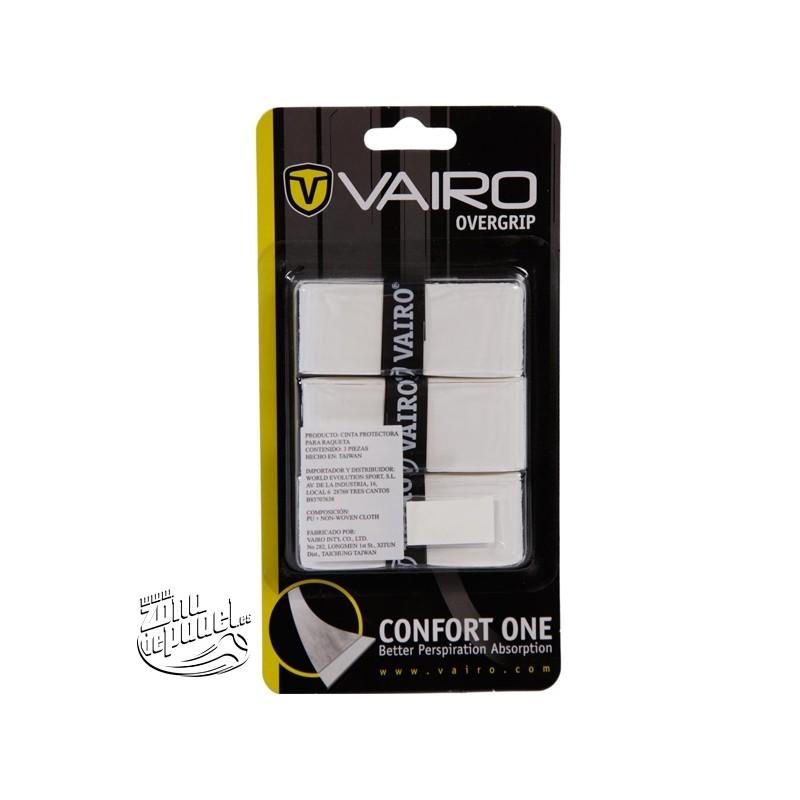 3 Overgrips vairo Confort one blancos