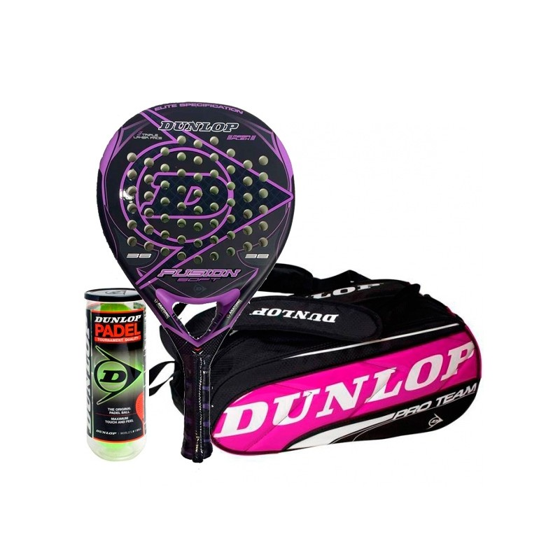 Pack Dunlop Fusion Soft + Paletero Fucsia