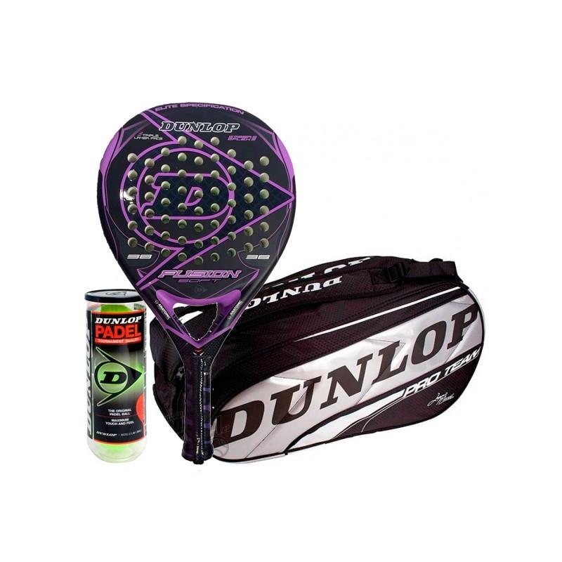 Pack Dunlop Fusion Soft + Paletero Plata