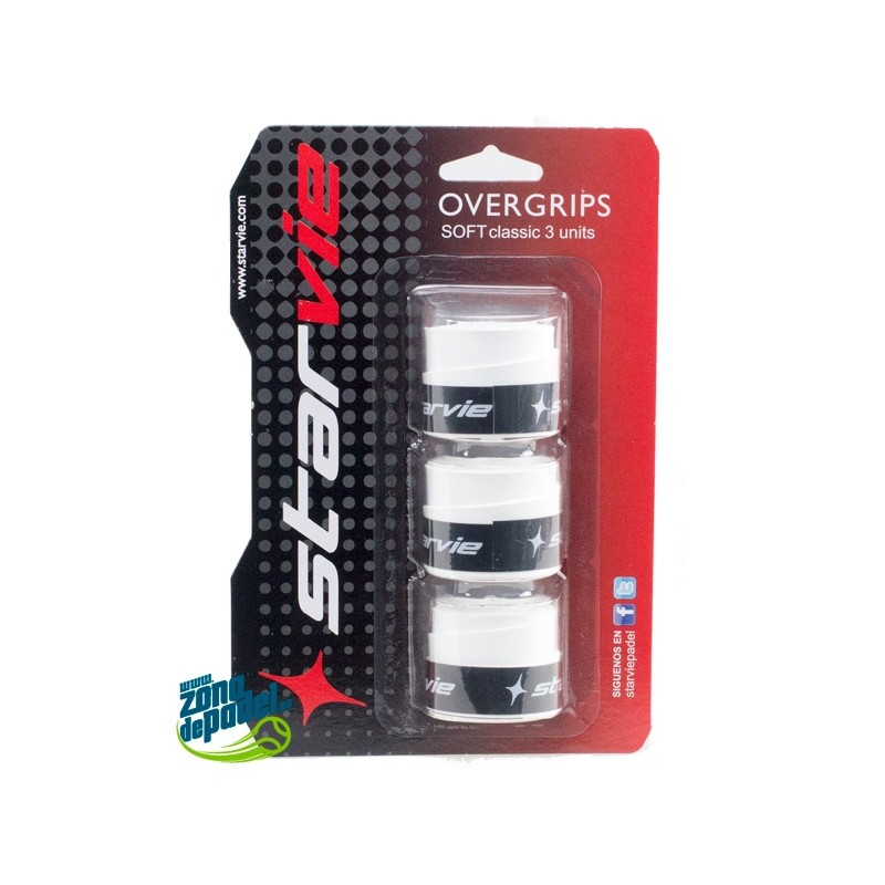 3 Overgrips Star Vie Classic Blancos