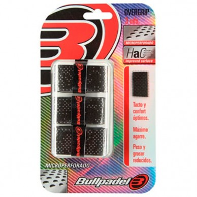BullpadelOvergrips Microperforados GB1201 Negro