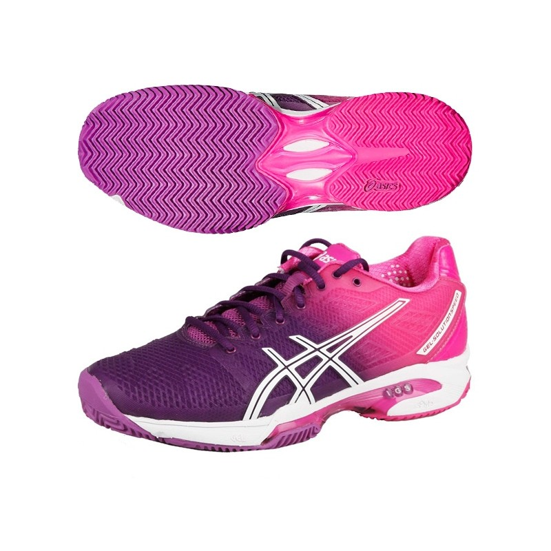 Zapatillas Asics Mujer Gel Solution Speed 2 2015 Moradas