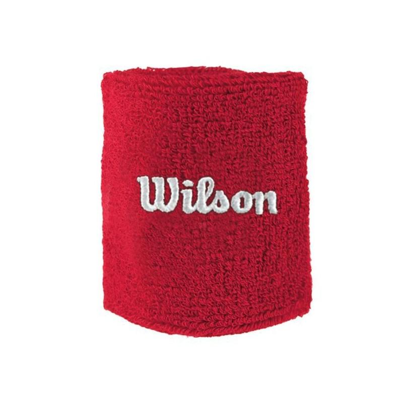 Muñequera wilson Doble Wilson Roja