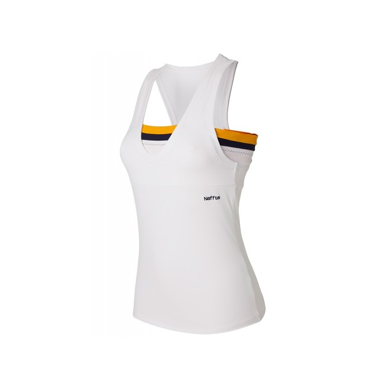 Camiseta Naffta CA538 Blanca y amarilla 2015