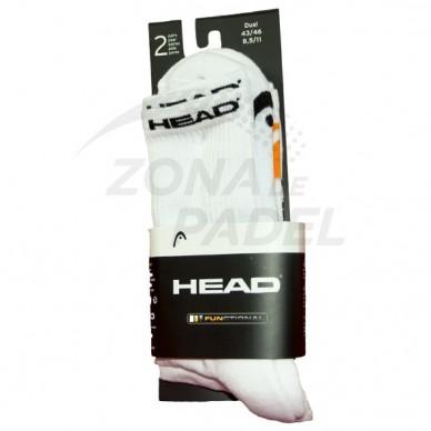 Pack 2 Calcetines Head Blanco