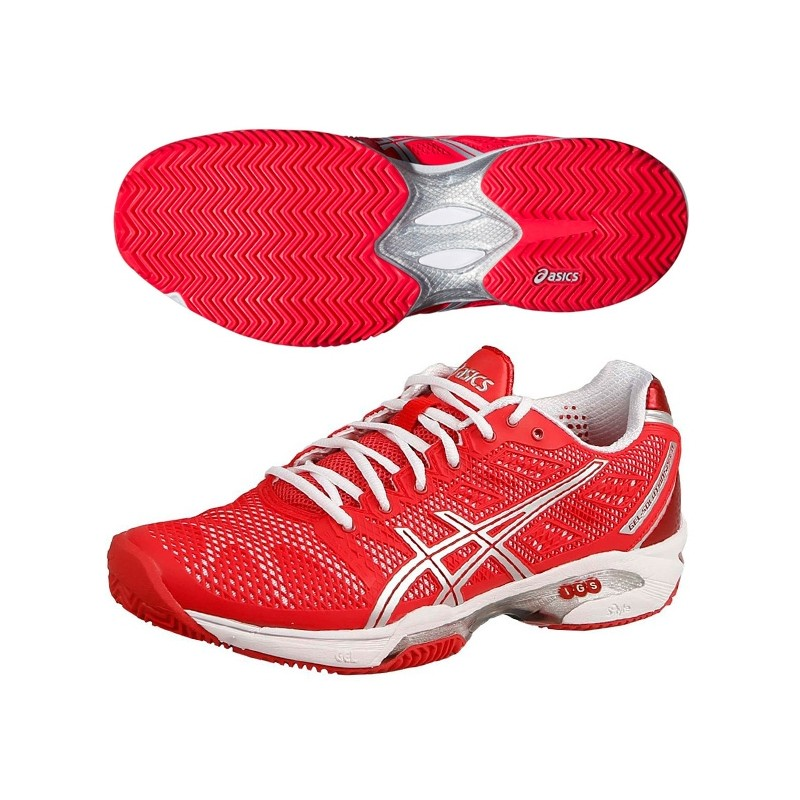 Zapatillas Asics Mujer Gel Solution Speed 2 2015 Rojas
