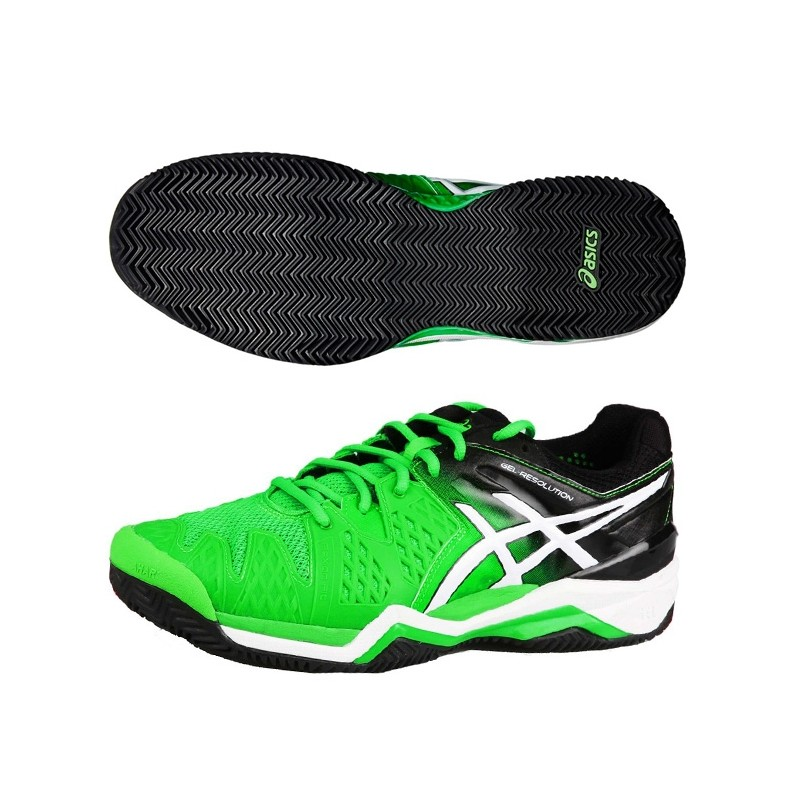 Zapatillas ASICS Gel Resolution 6 Clay 2015 Verdes