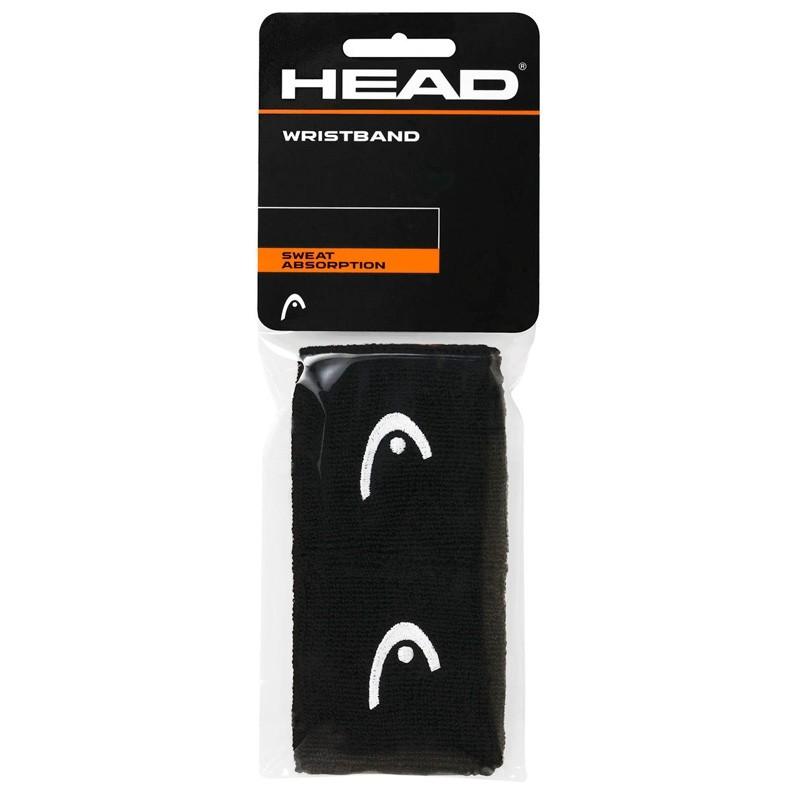 "Muñequera Head 2.5"" Wristband Negra"