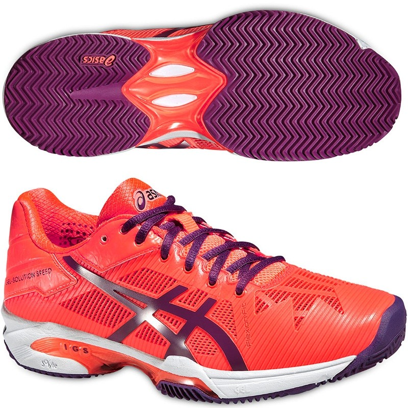 Zapatillas Asics Gel Solution Speed 3 Woman 2016 Coral