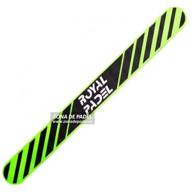 Protector pala de padel Negro Rayas Verde 2016