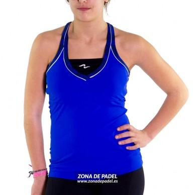 Camiseta Tirantes Negra Azul CA739-285100