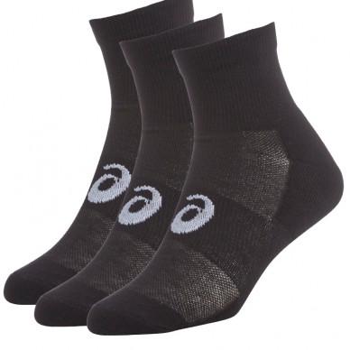 AsicsPack 3 calcetines quarter negros