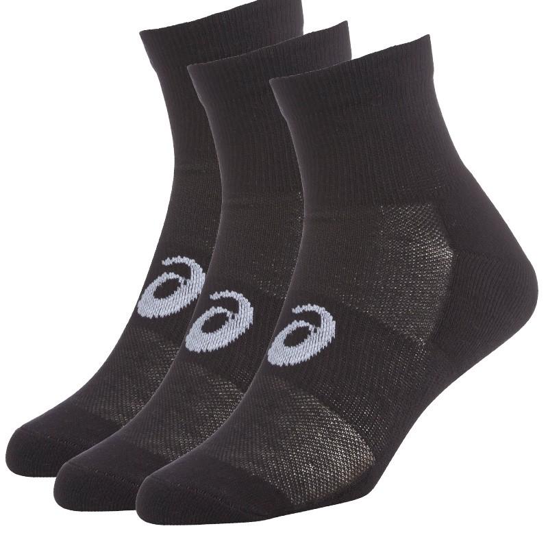 Pack Asics 3 calcetines quarter negros