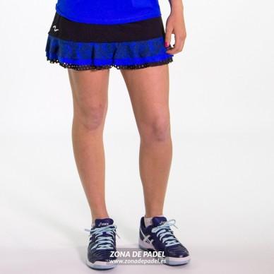 Falda Short Azul Fluor FS737-100285