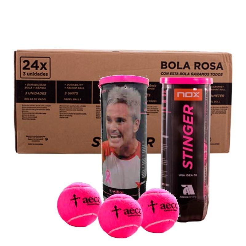 Cajón Pelotas Nox Stinger Rosas 24 X 3 unidades