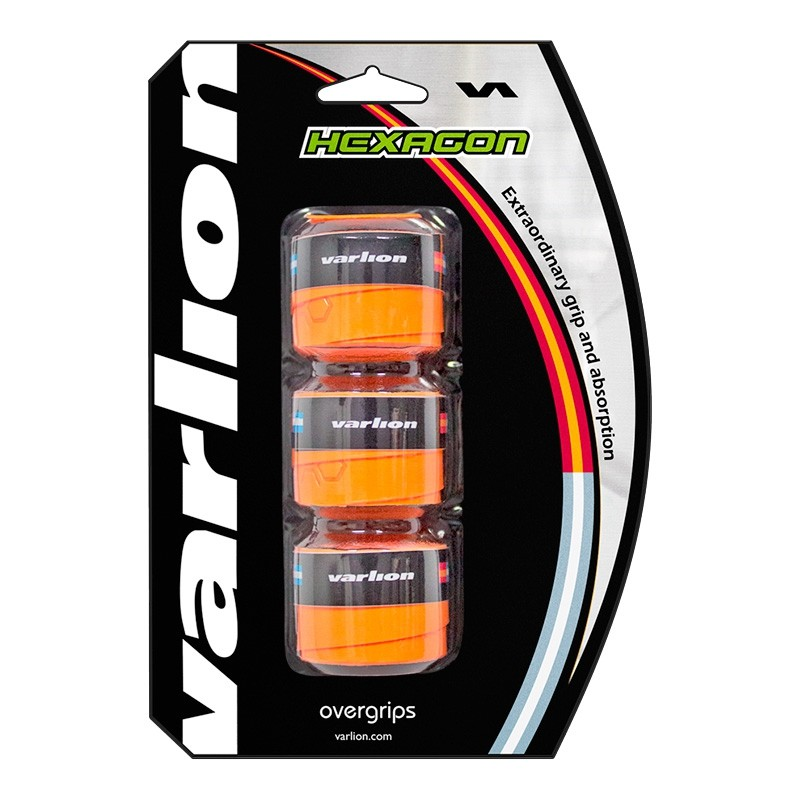 Overgrip varlion Hexagon Naranja Fluor