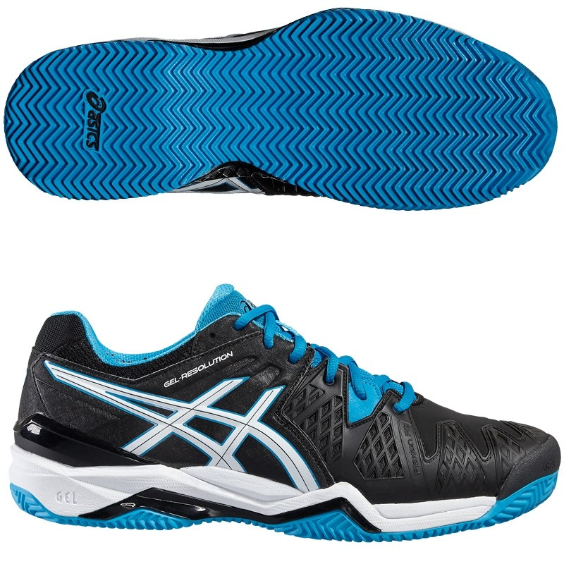 Zapatillas Asics Gel Resolution 6 Black Blue 2016