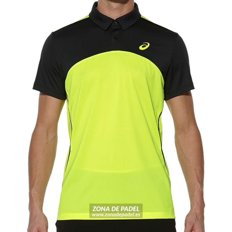 Polo Asics Padel Players Polo Safety Yellow 2016