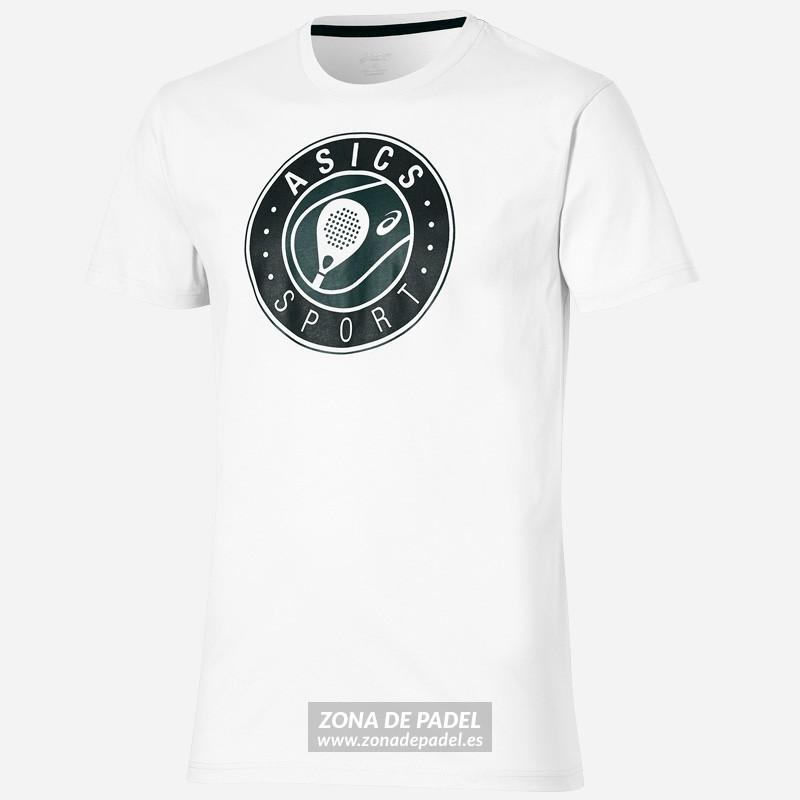 Camiseta Asics Logo SS Graphic Top Real White 2016