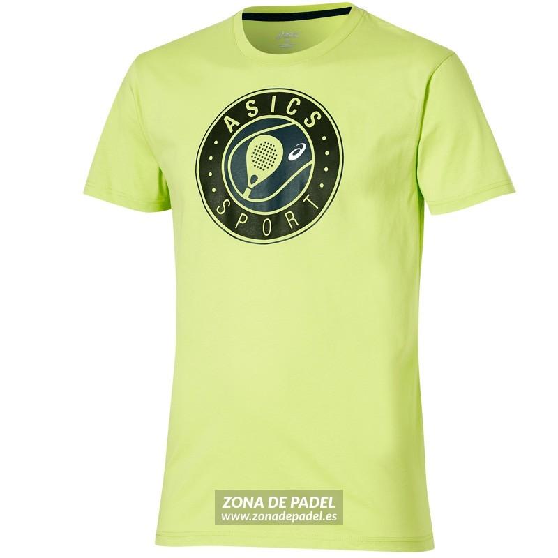 Camiseta Asics Logo SS Graphic Top Neon Lime 2016