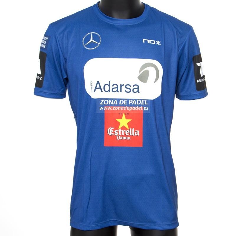 Camiseta Nox Azul sponsors Miguel Lamperpit