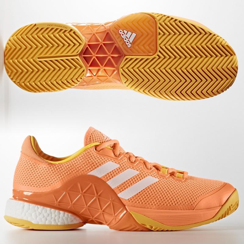 zapatillas Adidas Barricade Boost naranjas 2017
