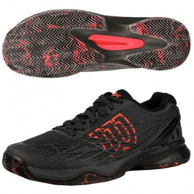 Zapatillas Kaos Clay Court Ebony Black / Fiery
