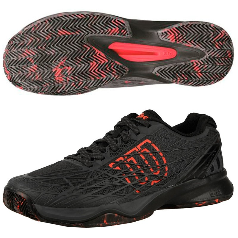 Zapatillas Wilson Kaos Clay Court Ebony Black / Fiery