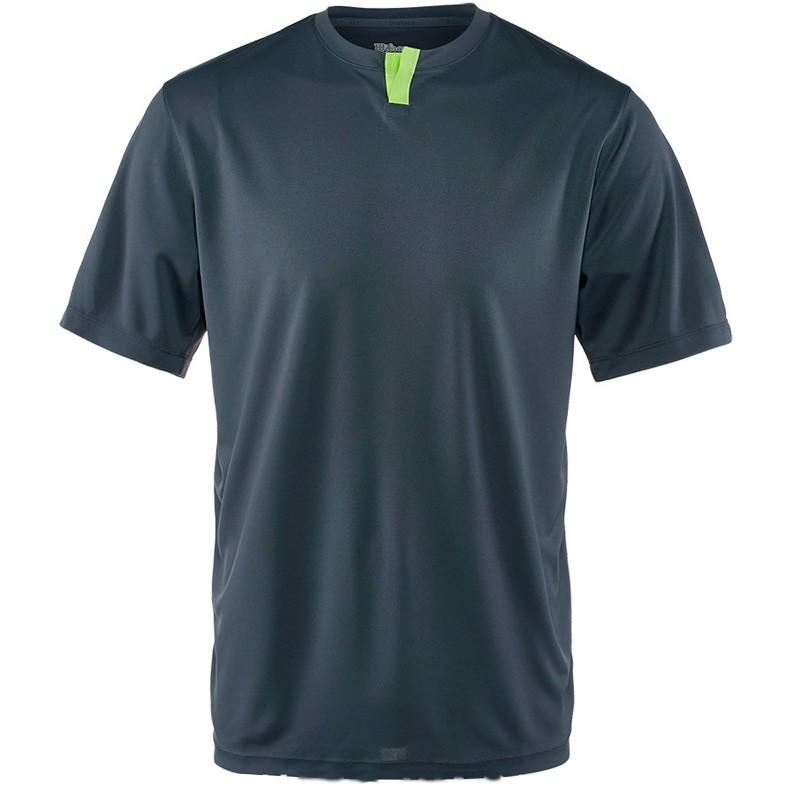 Camiseta Wilson M SU Henley Ebony / Green 2017