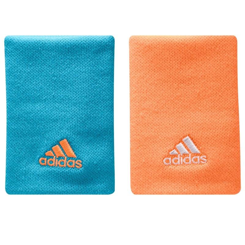 Muñequeras Adidas azul naranja