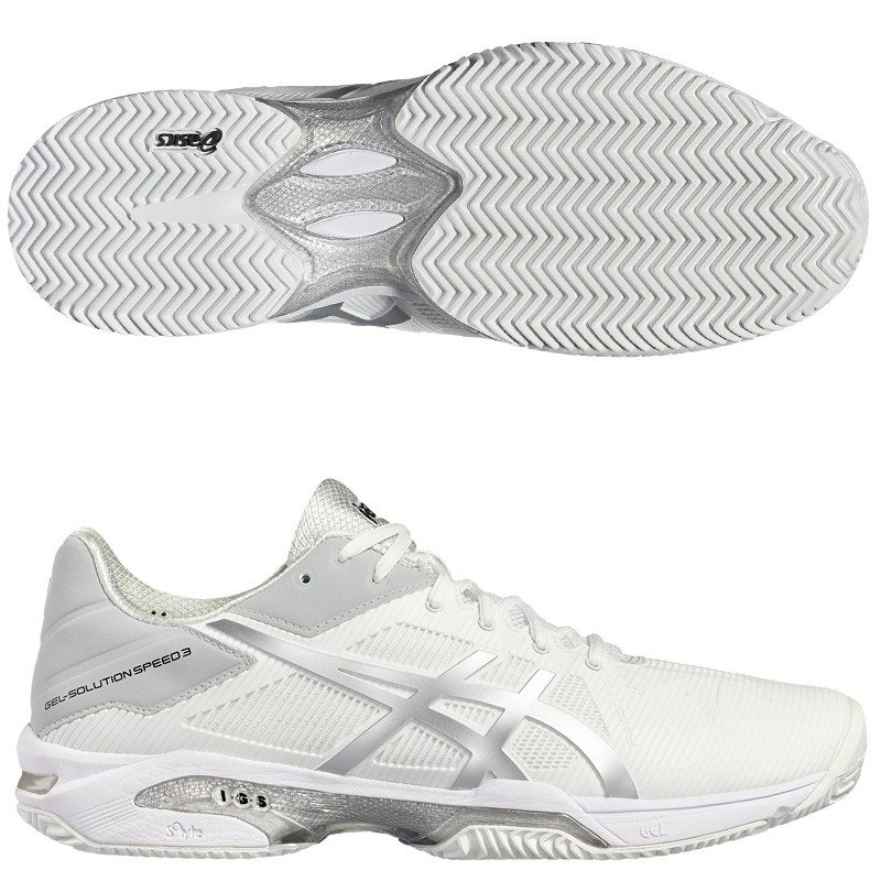 Zapatillas Asics Gel Solution Speed 3 Woman White/Silver 17