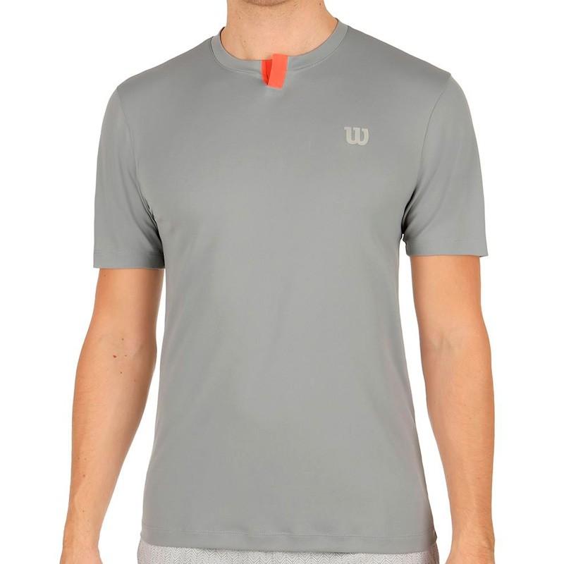 Camiseta WILSON M SU Henley Trade Wds/Hot Coral