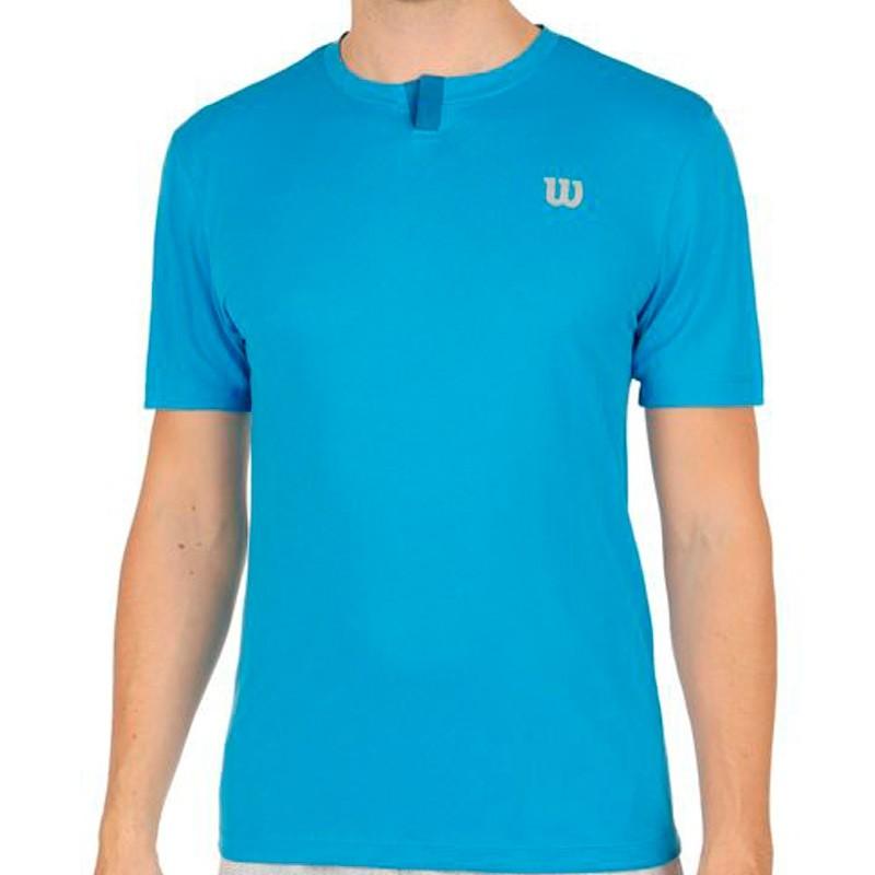 Camiseta WILSON M SU Henley Blithe/Deep Water